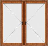 Деревянное окно двухстворчатое